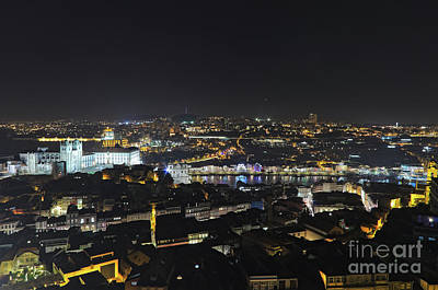 Photograph - Torre Dos Clerigos View Over The City In Porto by Angelo DeVal