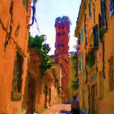 Toscana Digital Art - Torre Guinigi Di Lucca Italia by Asbjorn Lonvig
