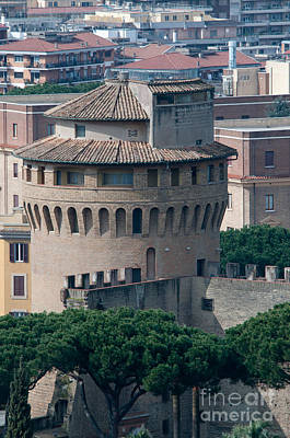 Torre San Giovanni St Johns Tower On The Ramparts Of The Walls Of The Vatican City Rome Print by Andy Smy