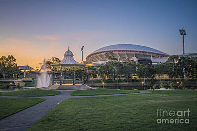 Photograph - Torrens Sunset by Ray Warren