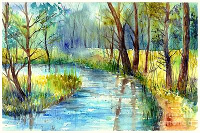 Countryside Painting - Torrent's Whisper by Suzann's Art