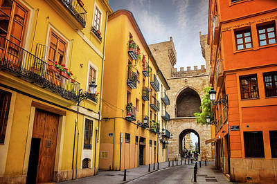Torres De Quart In Valencia Spain Art Print