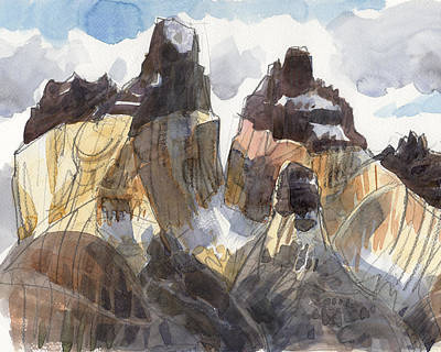 Painting - Torres Del Paine, Chile by Judith Kunzle