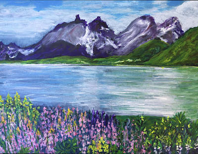 Painting - Torres Del Paine In Chile by Lucille Valentino