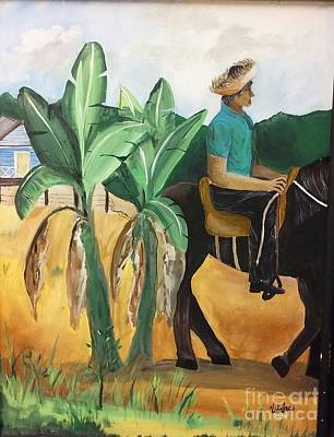Campesino Painting - A Caballo by Vidal Torres