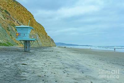 Photograph - Torrey Pine Beach  by Roman Gomez