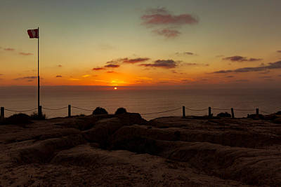 Photograph - Torrey Pine Glider Port Sunset by Jeremy McKay