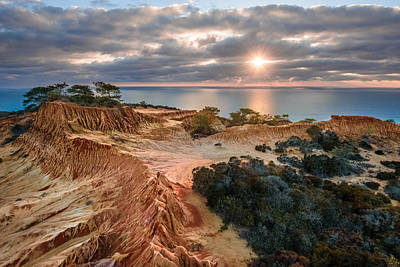 Photograph - Torrey Pines - Broken Hill Sunset by Alexander Kunz