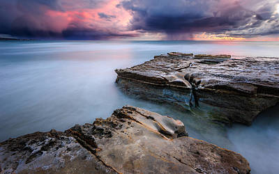 Flat Rock Photograph - Torrey Pines - Flat Rock Storm by Alexander Kunz