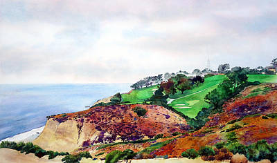 Torrey Pines Painting - Torrey Pines North Course by Scott Mulholland