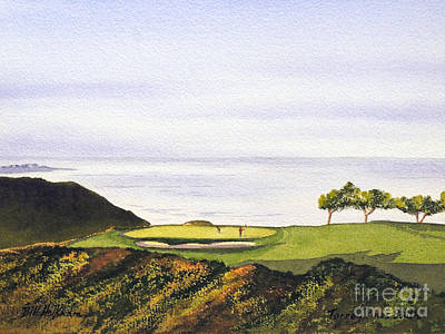 Golf Art Painting - Torrey Pines South Golf Course by Bill Holkham