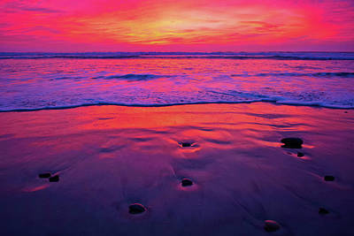Photograph - Torrey Pines Sunset Beach by Kyle Hanson