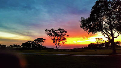 Photograph - Torrey Pines Sunset Over Pacific by William Kimble