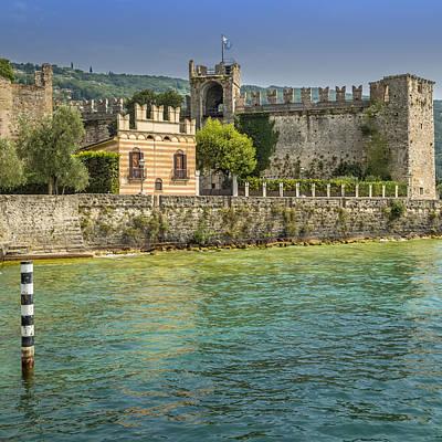 Lake Garda Photograph - Torri Del Benaco Scaliger Castel by Melanie Viola