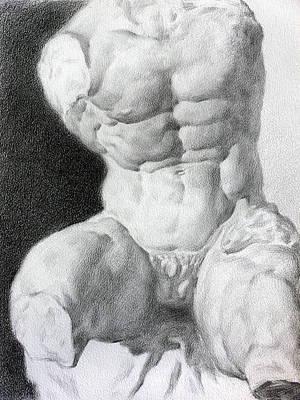 Art Print featuring the drawing Torso 1 by Valeriy Mavlo