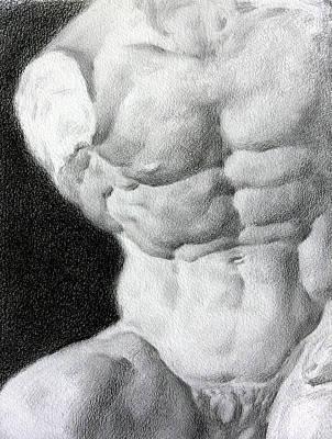 Art Print featuring the drawing Torso 1a by Valeriy Mavlo