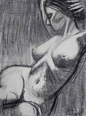 Frontal Nude Painting - Torso 6 - Female Nude  by Carmen Tyrrell