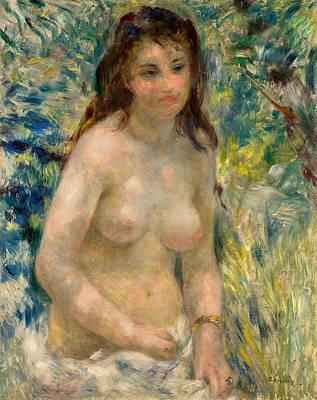 Vegetation Painting - Torso, Effect Of The Sun by Pierre-Auguste Renoir