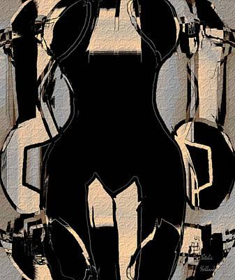 Abstract Female Torso Mixed Media - Torso by Natalie Holland