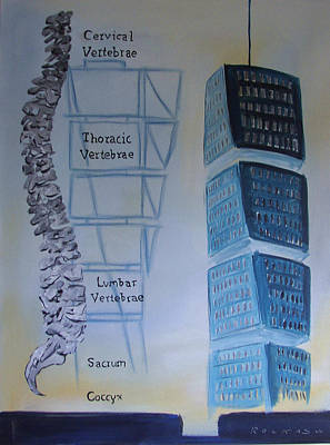 Malmo Painting - Torso Tower by John Rockas