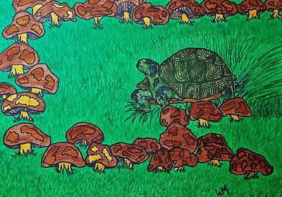 Buffet Drawing - Tortes Buffet by Wanda Gancarz