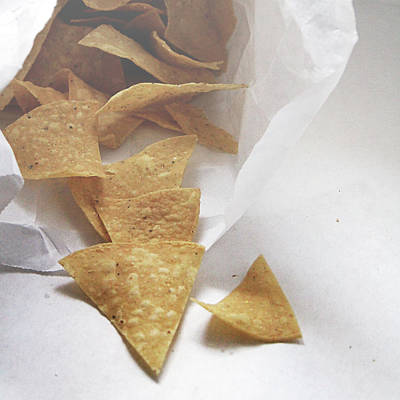 Snack Mixed Media - Tortilla Chips- Photo By Linda Woods by Linda Woods