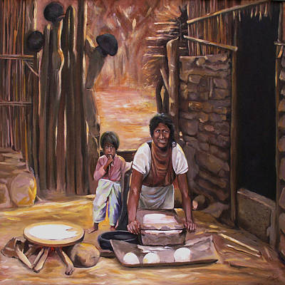 Painting - Tortillas De Madre by Nancy Griswold