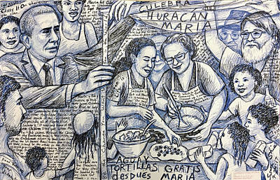 Barack Obama Drawing - Tortillas Gratis by Susan  Shie