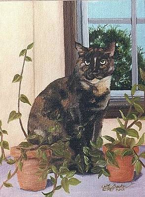 Painting - Tortoise Cat by Ann Becker