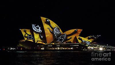 Photograph - Tortoise Sails - Sydney Vivid Fesatival by Bryan Freeman