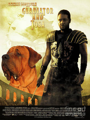 Painting - Tosa Inu Art Canvas Print - Gladiator Movie Poster by Sandra Sij