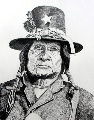 Tosawi Comanche Chief Art Print by Stan Hamilton