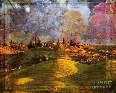 Digital Art - Toscana Illumined 2016 by Kathryn Strick