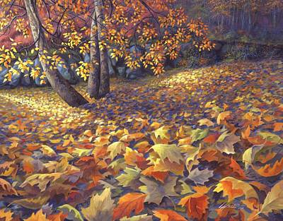 Autumn Scene Painting - Toscas Trail by Lucy West