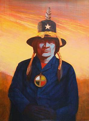 Painting - Tosh-a-wah,peneteka Comanche Chief by J W Kelly