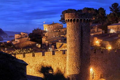 Photograph - Tossa De Mar Old Town At Night by Artur Bogacki