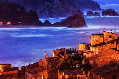 Photograph - Tossa De Mar Town At Dusk On Costa Brava by Artur Bogacki