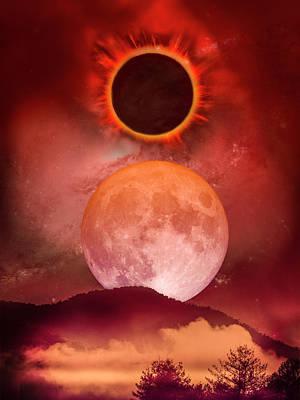 Photograph - Total Eclipse Art  by Debra and Dave Vanderlaan