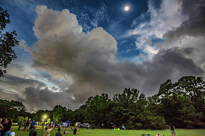 Photograph - Total Eclipse Awendaw Green by Donnie Whitaker
