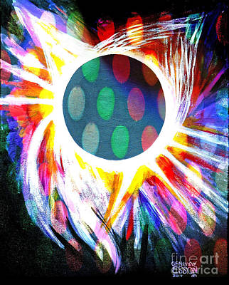 Painting - Total Eclipse Digital by Genevieve Esson