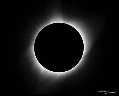 Totality Photograph - Total Eclipse by Lena Sandoval-Stockley
