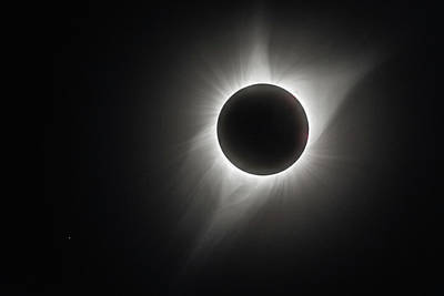 Total Eclipse Of The Sun Photograph - Total Eclipse Of The Sun by Angie Vogel