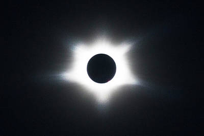 Photograph - Total Eclipse Of The Sun At Totality by Debra and Dave Vanderlaan