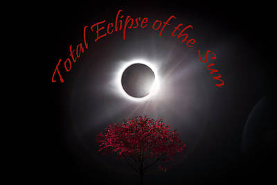 Photograph - Total Eclipse Of The Sun In Art by Debra and Dave Vanderlaan