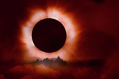 Photograph - Total Eclipse Of The Sun In The Mountains by Debra and Dave Vanderlaan