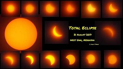 Photograph - Total Eclipse Progression Nebraska by Caryl J Bohn