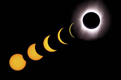 Photograph - Total Eclipse Sequence, Aruba, 2/28/1998 by Lon Dittrick