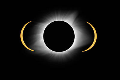 Photograph - Total Eclipse by Steve Stuller