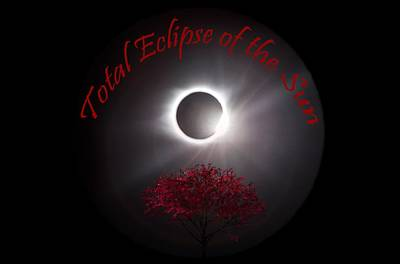 Photograph - Total Eclipse T Shirt Art  by Debra and Dave Vanderlaan