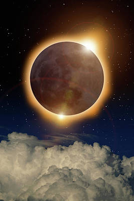 Digital Art - Total Eclipse by WB Johnston